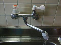 キッチン蛇口ハンドルをレバー式に交換