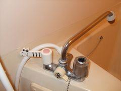 浴室の蛇口ハンドルをレバー式に交換1